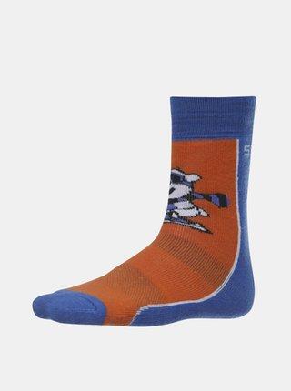 Modro-hnědé klučičí ponožky SAM 73