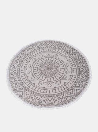 Bílý vzorovaný koberec Dakls