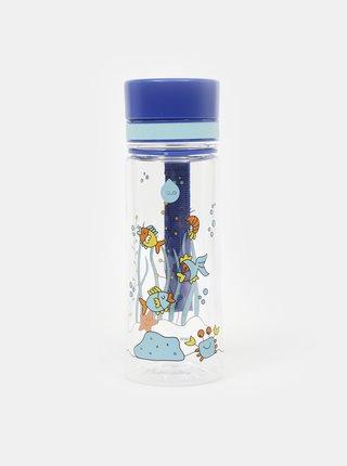 Modrá plastová láhev EQUA