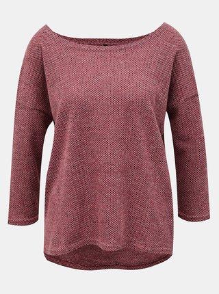 Tmavě růžový dámský volný svetr Only