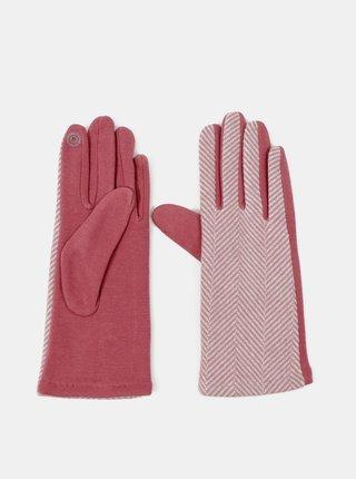 Ružové dámske rukavice Hailys