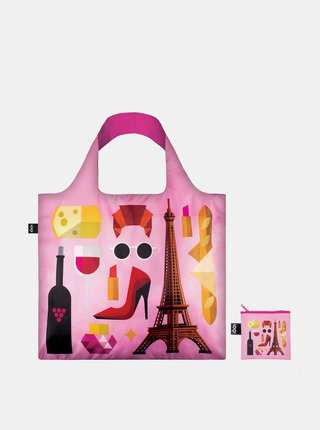 Loqi ružová skladacia eko taška Hey Studio Paris