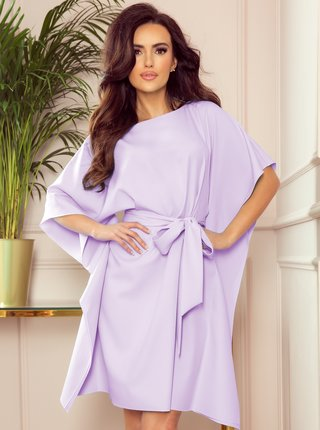 Světle fialové volné šaty se zavazováním numoco