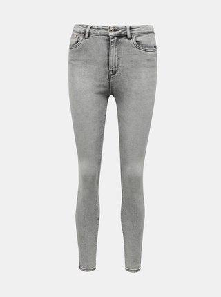 Světle šedé skinny fit džíny ONLY Mila