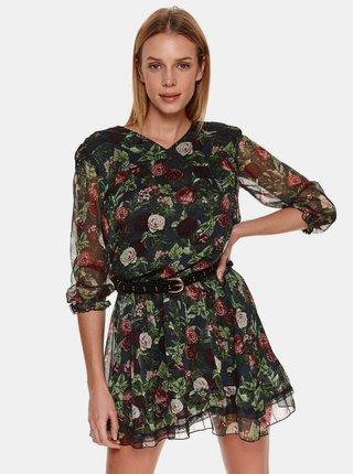 Zelené květované šaty TOP SECRET