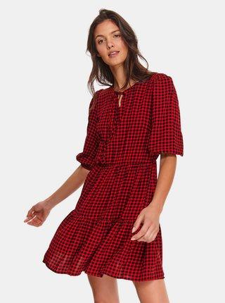 Červené kostkované šaty TOP SECRET