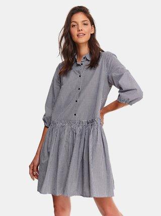 Šedé kostkované košilové šaty TOP SECRET