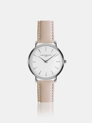 Dámské hodinky s béžovým koženým páskem Annie Rosewood