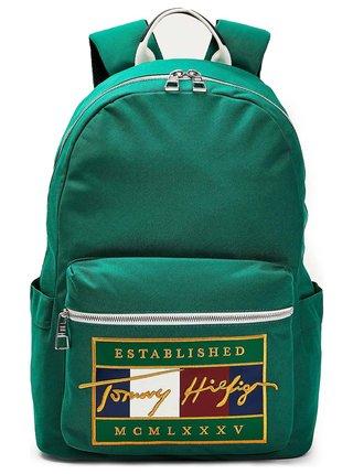 Tommy Hilfiger zelený batoh Signature Flag Backpack