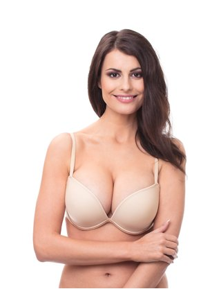 WONDERBRA FULL EFFECT PLAIN BRA - Hladká podprsenka s push-up efektem - tělová