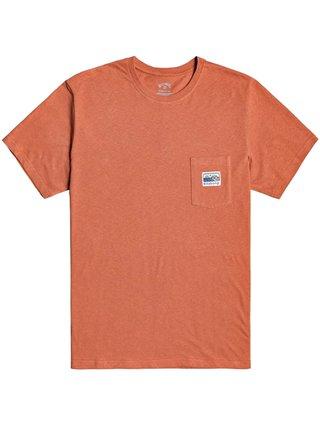 Billabong POCKET FINDER  AUBURN pánské triko s krátkým rukávem - oranžová