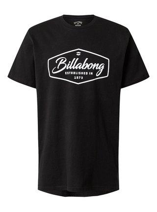 Billabong TRADEMARK black pánské triko s krátkým rukávem - černá