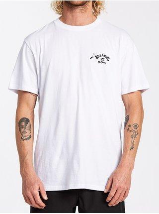 Billabong ON THE PLACES YOULL white pánské triko s krátkým rukávem - bílá
