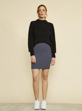 Tmavě modrá pruhovaná pouzdrová basic sukně ZOOT Baseline Adriana