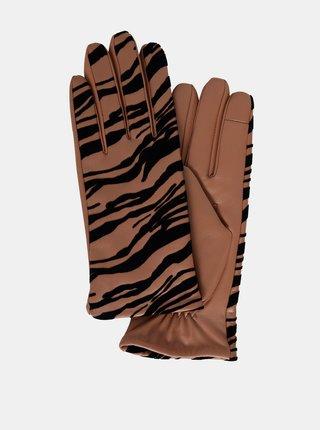 Ichi hnědé rukavice Iazebra