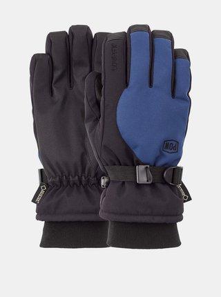 POW Trench GTX WING TEAL pánské zimní prstové rukavice - černá