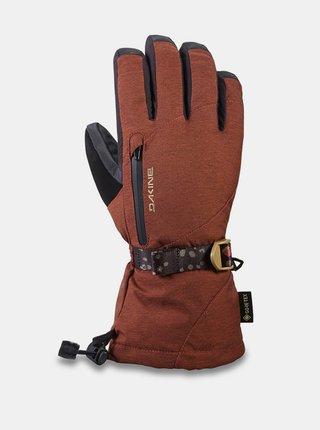 Dakine SEQUOIA DARK ROSE zimní prstové rukavice - červená