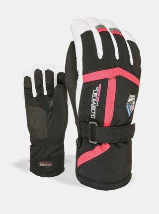 Level HELI JR  Fucsia dětské zimní prstové rukavice - černá
