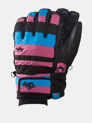 Rome REIGN CYAN/PINK zimní prstové rukavice - modrá