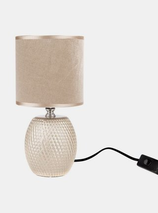 Béžová keramická stolná lampa Dakls