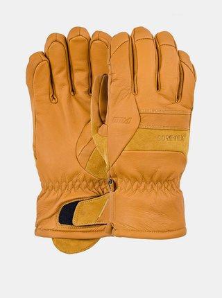 POW Stealth GTX +WARM Buckhorn Brown pánské zimní prstové rukavice - hnědá