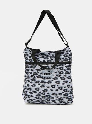Šedo-čierna dámska vzorovaná taška Puma