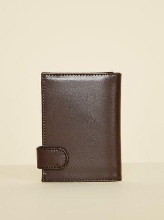 Tmavě hnědá pánská kožená peněženka OJJU