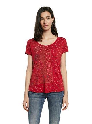 Desigual červené tričko TS Estambul