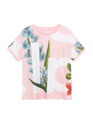 Desigual růžové dívčí tričko TS Turin