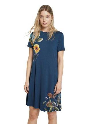 Desigual modré šaty Vest Las Vegas