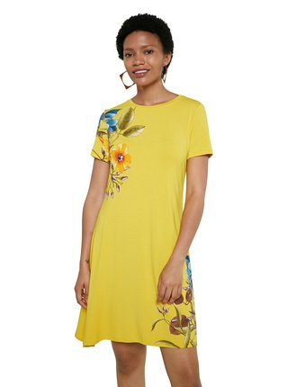 Desigual žlté šaty Vest Las Vegas