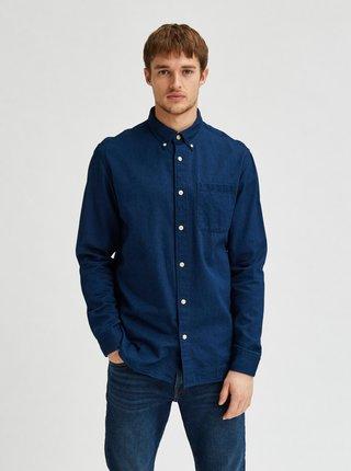 Tmavě modrá džínová košile Selected Homme Regrick