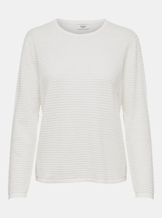 Biely sveter Jacqueline de Yong Barbarini