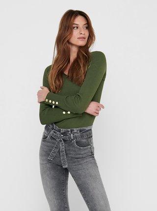 Zelený sveter Jacqueline de Yong Plum