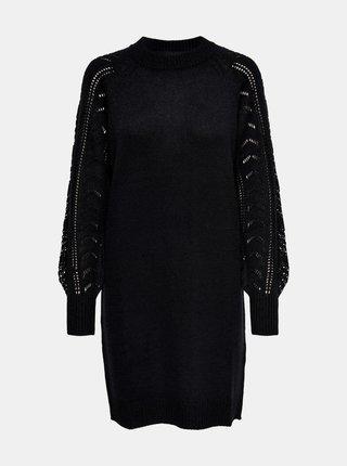 Černé svetrové šaty Jacqueline de Yong Avia