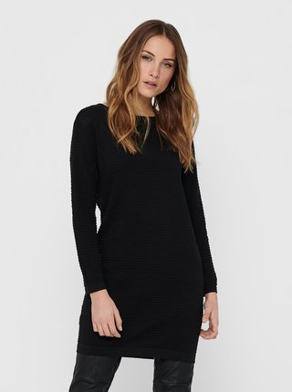 Černé svetrové šaty Jacqueline de Yong Barbarini