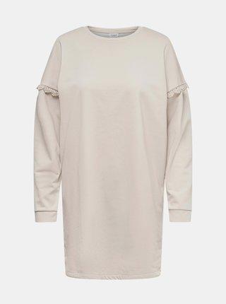 Krémové mikinové šaty Jacqueline de Yong Rikke