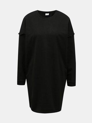 Černé mikinové šaty Jacqueline de Yong Rikke
