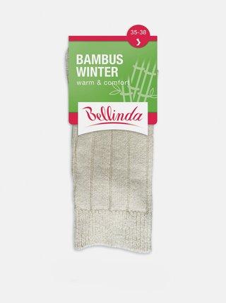 Dámské zimní ponožky BAMBUS WINTER SOCKS - Dámské zimní bambusové ponožky - béžová