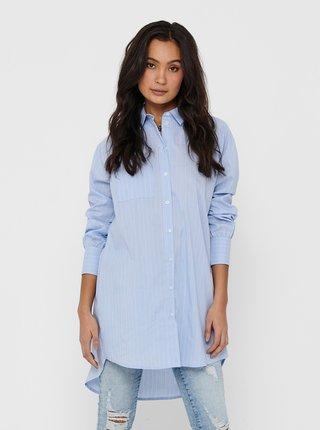 Světle modré košilové šaty ONLY Nessa
