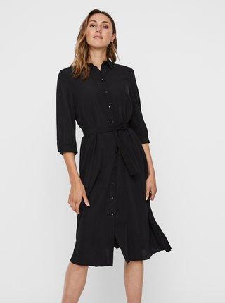 Černé košilové šaty VERO MODA Cara