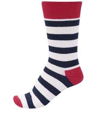 Unisex pruhované ponožky v trikolóre Happy Socks Stripe
