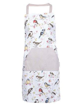 Bílá zástěra s motivem ptáků Cooksmart Dawn Chorus