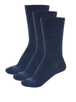 Sada tří tmavě ponožek v modré barvě CR7