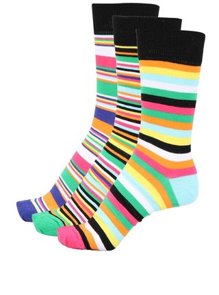 Set de 3 sosete unisex colorate in dungi Oddsocks Brian