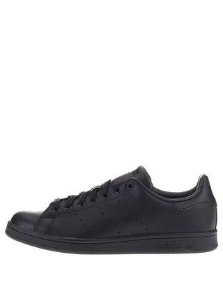 Pantofi sport negri din piele pentru barbati adidas Originals Stan Smith