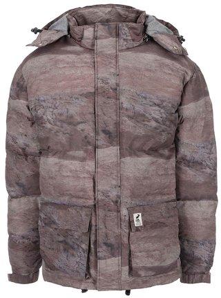Hnedá vzorovaná zimná bunda Fat Moose Urban Heat