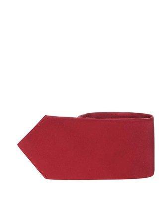 Vínová hodvábna kravata Selected Homme Plain