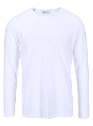 Bluza alba basic din bumbac Pima - Selected Homme Pima Florence