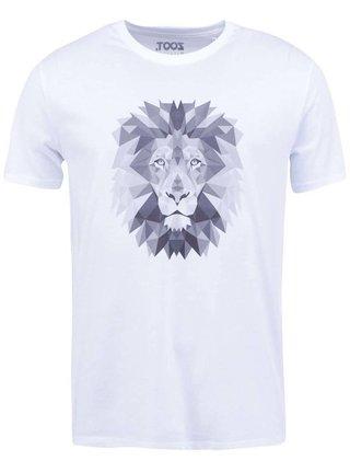 Tricou alb cu print pentru barbati - ZOOT Original Lion